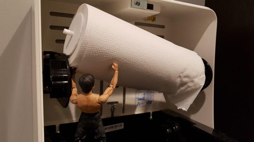 3D Printed Paper Towel Shaft Adapter